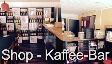 Unserem Shop und Kaffee Bar